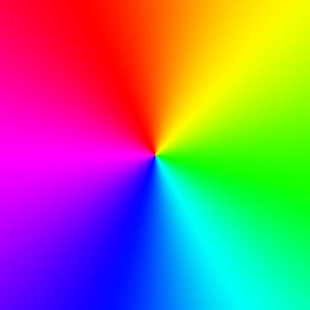 Круговая радужная подсветка
