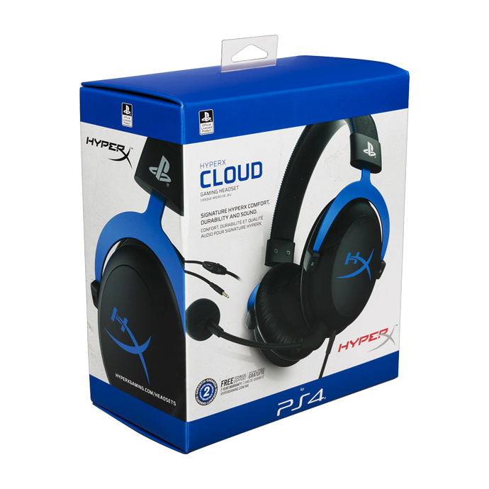 HyperX Cloud for PS4 Black/Blue (HX-HSCLS-BL/EM) фото