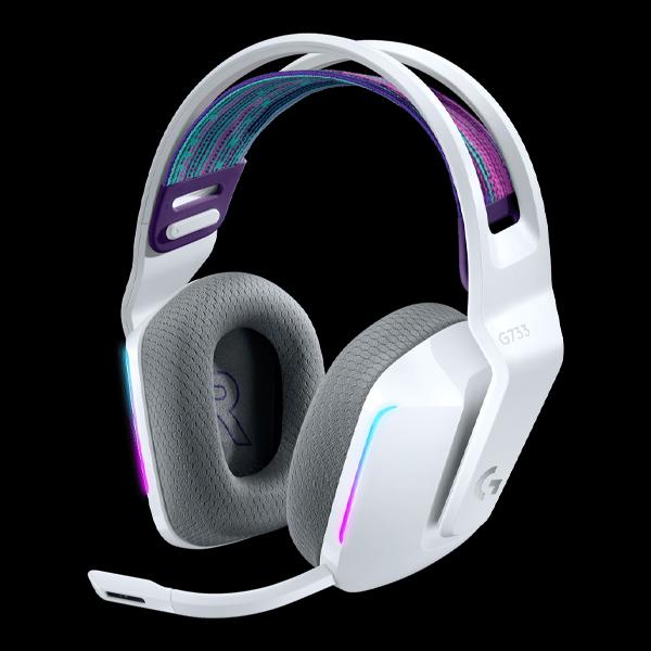 Logitech G733 Lightspeed RGB Wireless Gaming Headset White (981-000883)