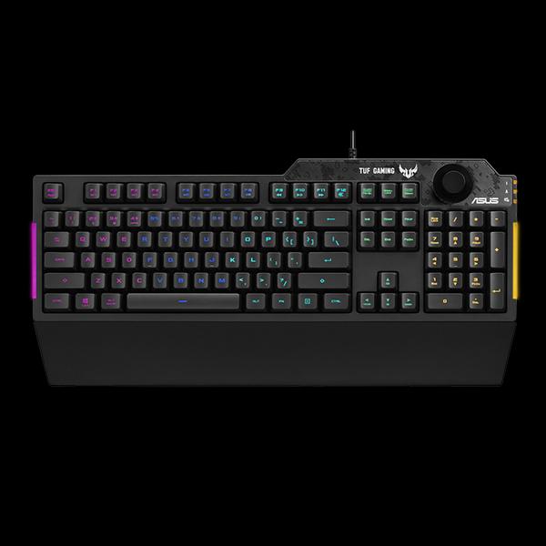 ASUS TUF Gaming K1 RGB Black (90MP01X0-BKRA00)