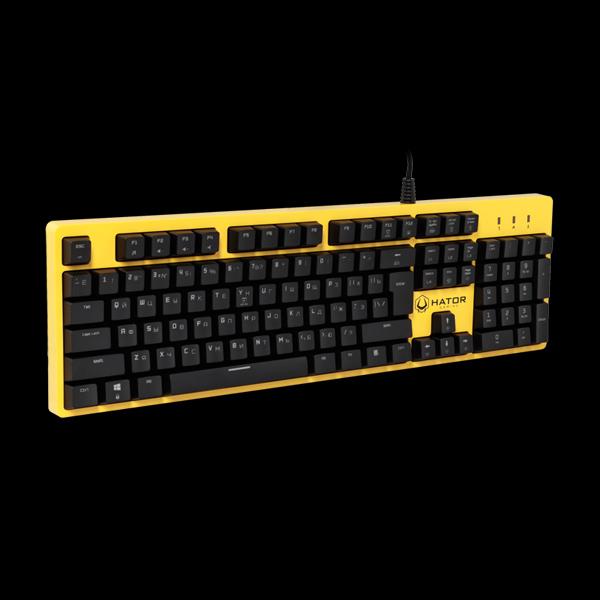 Hator Rockfall Mechanical Blue Switches Yellow Edition RU (HTK-601) описание