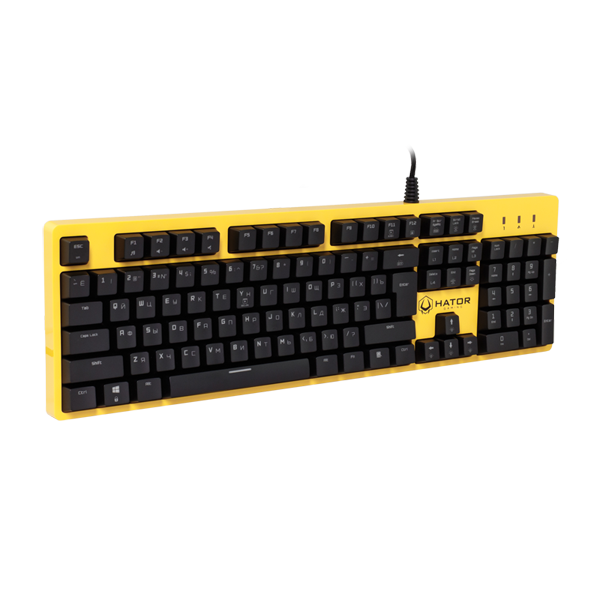 Hator Rockfall Mechanical Blue Switches Yellow Edition RU (HTK-601)