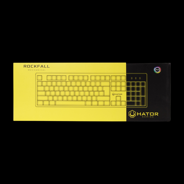 Hator Rockfall Mechanical Blue Switches Yellow Edition RU (HTK-601) стоимость