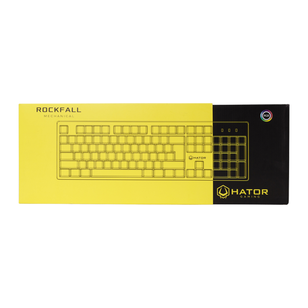 Hator Rockfall Mechanical Blue Switches Yellow Edition UA (HTK-600) стоимость