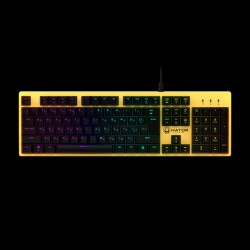 Hator Rockfall Mechanical Red Switches Yellow Edition RU (HTK-603)
