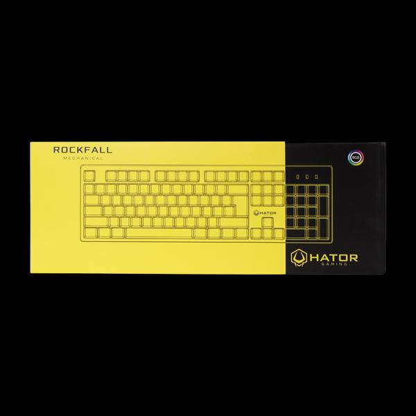 Hator Rockfall Mechanical Red Switches Yellow Edition RU (HTK-603) фото