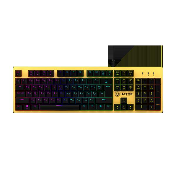 Hator Rockfall Mechanical Red Switches Yellow Edition UA (HTK-602) купить