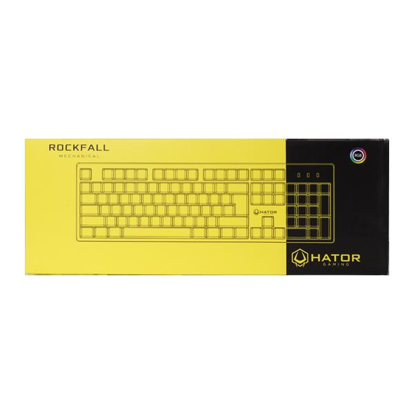 Hator Rockfall Mechanical Red Switches Yellow Edition UA (HTK-602) стоимость