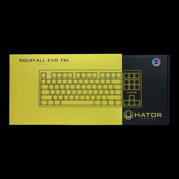 Hator Rockfall EVO TKL Optical Black (HTK-630) в Украине