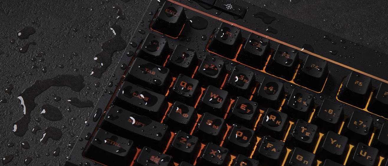 Стойкая к разливам клавиатура