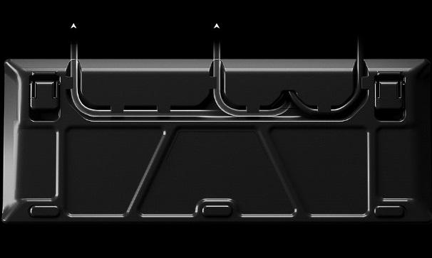 клавиатура снизу