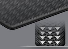 Нескользящая черная резиновая основа