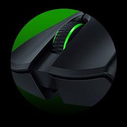 колесо прокрутки в зеленом кругу