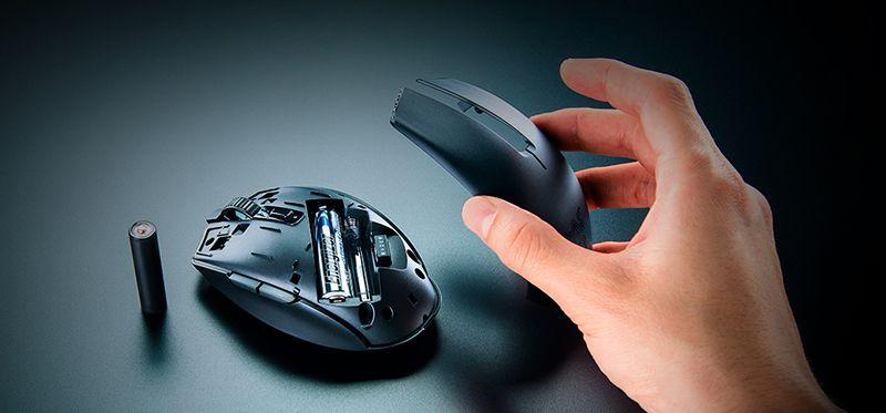 Батарейка внутри мышки