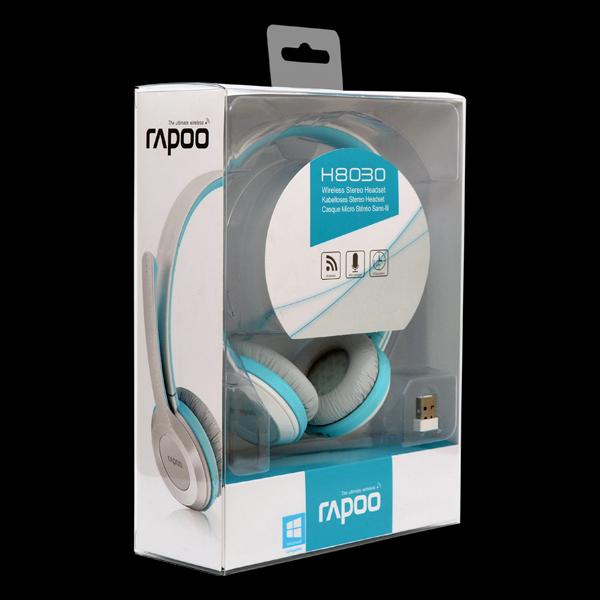 Стереогарнитура RAPOO H8030 wireless, голубая_67169 стоимость