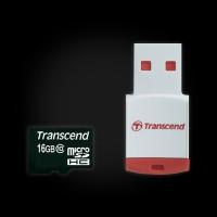 Transcend 16 GB microSDHC class 10 + P3 Card Reader (TS16GUSDHC10-P3)