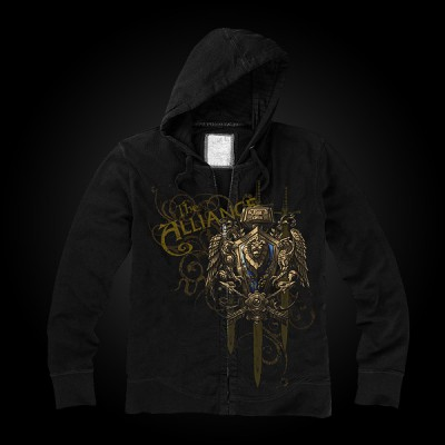 J!NX World of Warcraft Alliance Crest Version 2 Zip-up Hoodie M