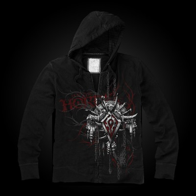 J!NX World of Warcraft Horde Crest Version 2 Zip-up Hoodie L