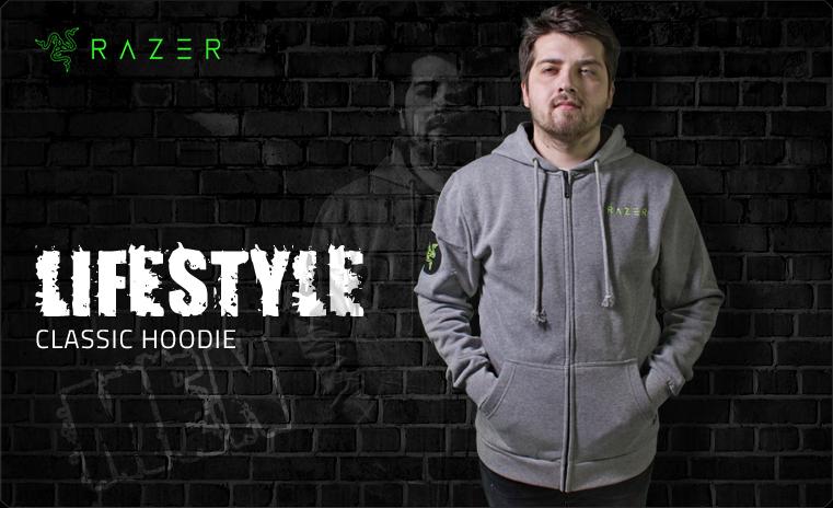 RAZER Lifestyle Classic Hoodie Men L (RGS8M03S4L-01-05L)