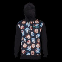 Rick & Morty Pattern Printed Sublimation Men's Hoodie S (HD665437RMT-S)