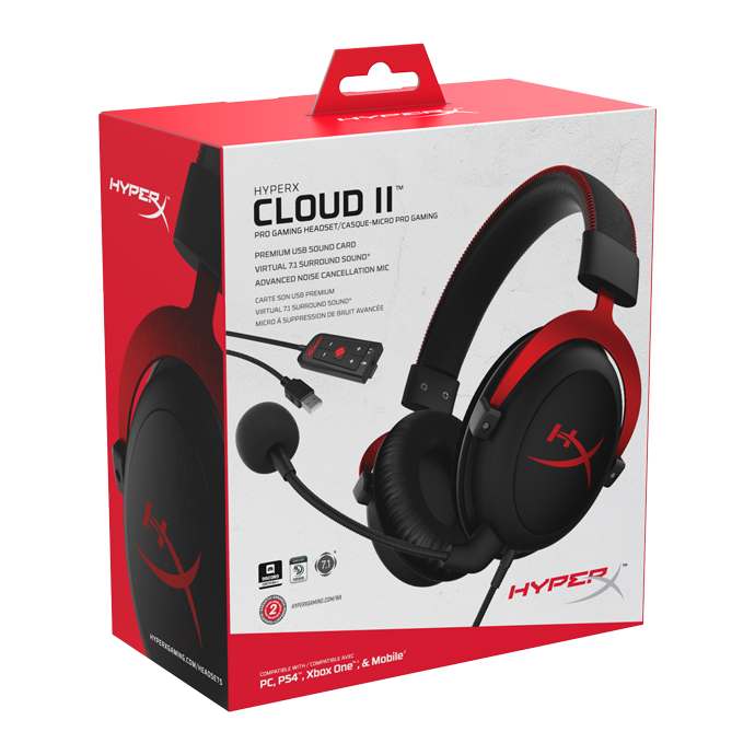 HyperX Cloud II Red (KHX-HSCP-RD) стоимость