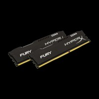 HyperX DDR4 16 GB (2x8Gb) 2400 MHz Fury Black (HX424C15FB2K2/16)