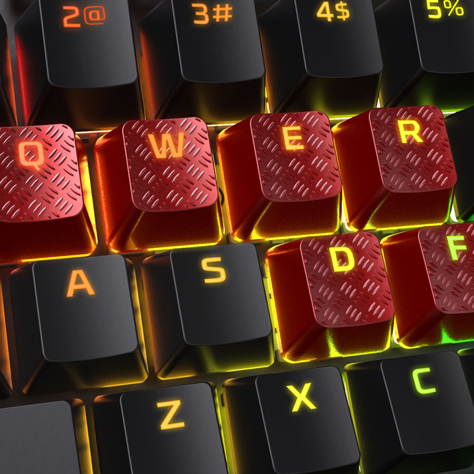 HyperX FPS & MOBA Gaming Keycaps Upgrade Kit (Red) фото