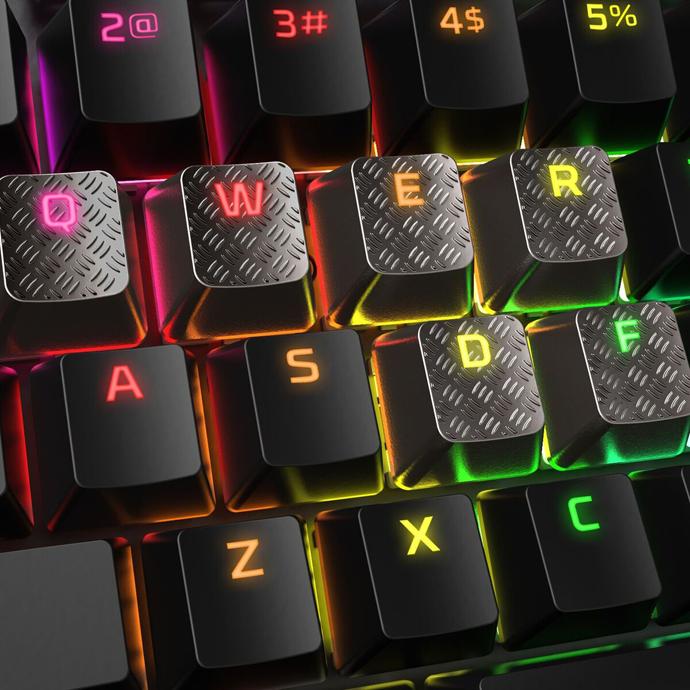 HyperX FPS & MOBA Gaming Keycaps Upgrade Kit (Titanium) описание