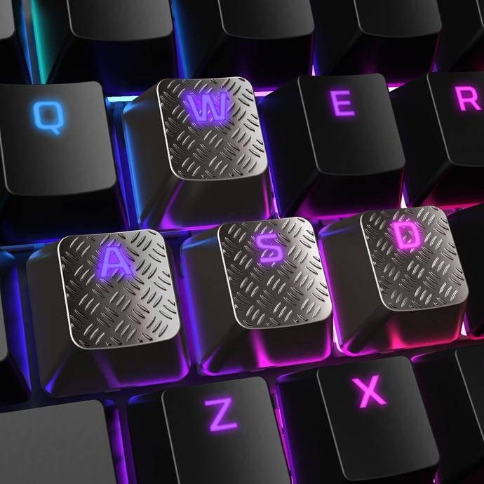 HyperX FPS & MOBA Gaming Keycaps Upgrade Kit (Titanium) фото