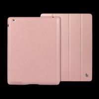 Jisoncase Apple iPad 4/iPad 2 Leather Smart Case Executive Pink