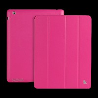 Jisoncase Apple iPad 4/iPad 2 Leather Smart Case Executive Rose