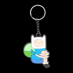 Adventure Time - Sitting Finn Rubber Keychain (KE260329ADV)