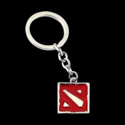 Брелок Dota 2 Logo Silver/Red