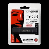 Kingston 16Gb DataTraveler 4000 G2 Metal Black DT4000G2/16GB