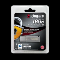 Kingston 16Gb DataTraveler Locker+ G3 Metal Silver DTLPG3/16GB