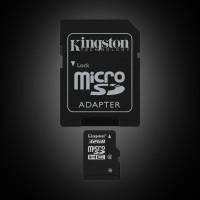 Kingston 32 GB microSDHC class 4 + SD Adapter SDC4/32GB