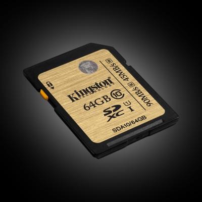 Kingston 64 GB SDXC class 10 UHS-I R90/W45MB/s SDA10/64GB