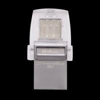Kingston 64Gb DataTraveler Micro 3.1+Type-C Metal Silver DTDUO3C/64GB