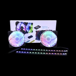 QUBE Rainbow Chamelion Kit + Fans 120mm 18LED (RGB_CHAMELION_KITv01)