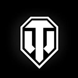 Магнит Лого белое на черном фоне большой