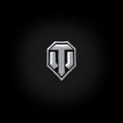 """Виниловый магнит с вышивкой """"Серебряный логотип на чёрном фоне"""""""