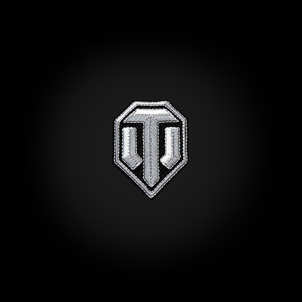 """Виниловый магнит с вышивкой """"Серебряный логотип на чёрном фоне"""" купить"""