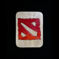 Dota2 logo Wood
