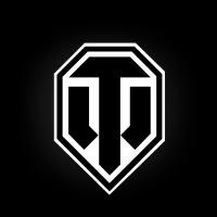 Магнит Лого черное на белом фоне малый