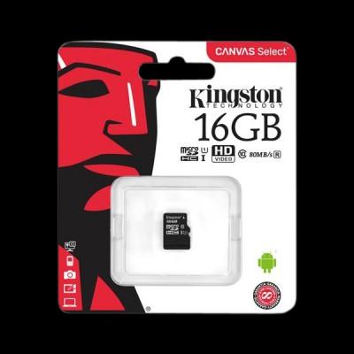 Kingston 16GB microSDHC C10 UHS-I R80MB/s (SDCS/16GBSP)