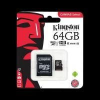 Kingston 64GB microSDXC C10 UHS-I R80MB/s + SD (SDCS/64GB)