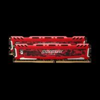 Micron Crucial DDR4 (2x8GB) 2400 MHz Ballistix Sport Red (BLS2C8G4D240FSE)