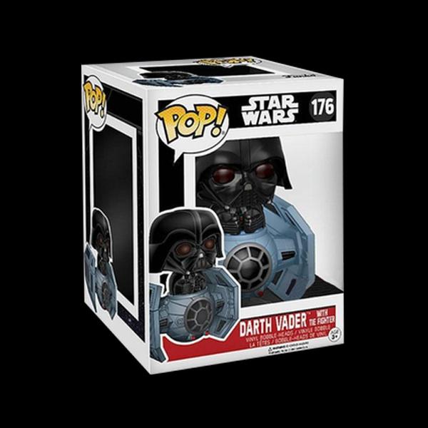 Funko POP! Bobble: Star Wars: Tie Fighter w/ Darth Vader (Exc) фото