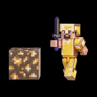 Minecraft Steve in Gold Armor серия 3 (16488M)