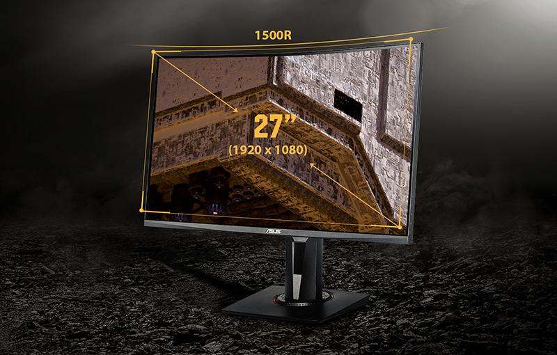 27-дюймовый изогнутый экран